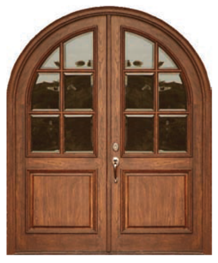 Round Wood Top Door ESI-10