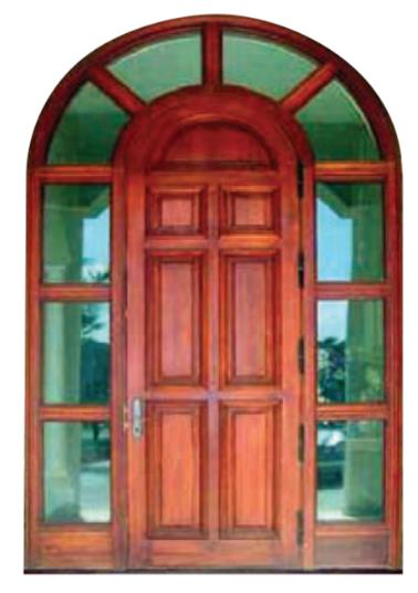 Wood Radius Door - ESI-2