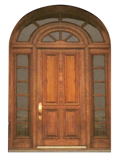 Wood Round Door - ESI-3